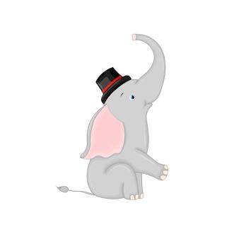 Elefante de natal fofo.