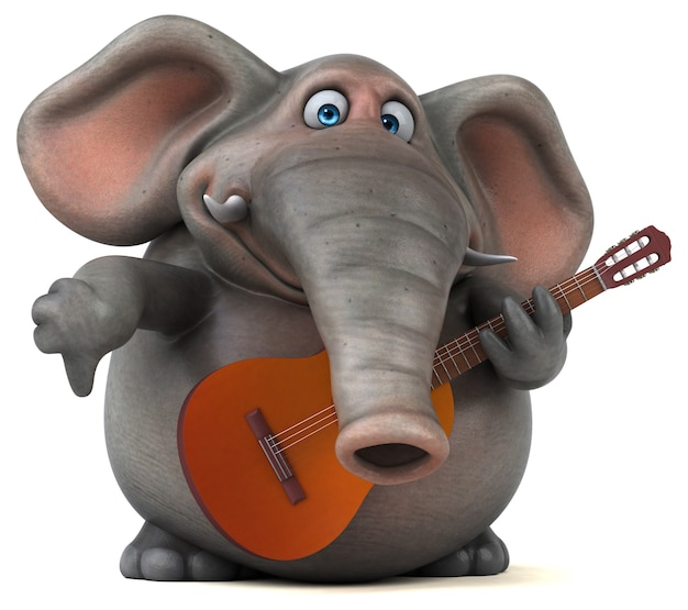 Elefante divertido
