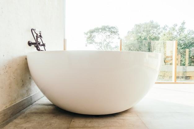 Elegante banheiro novo espaço limpo