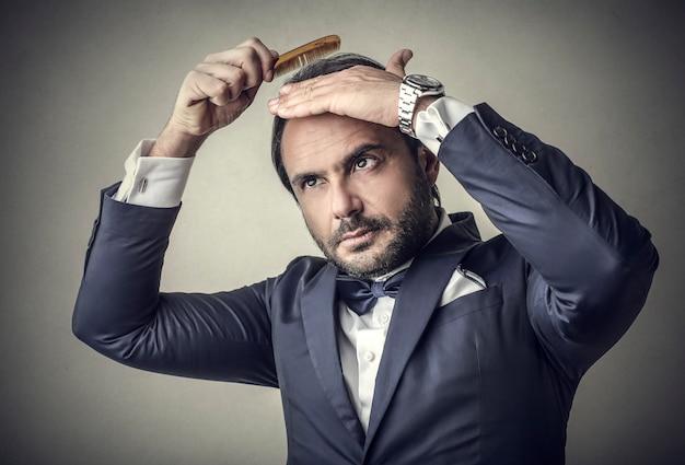 Elegante, elegante, homem negócios