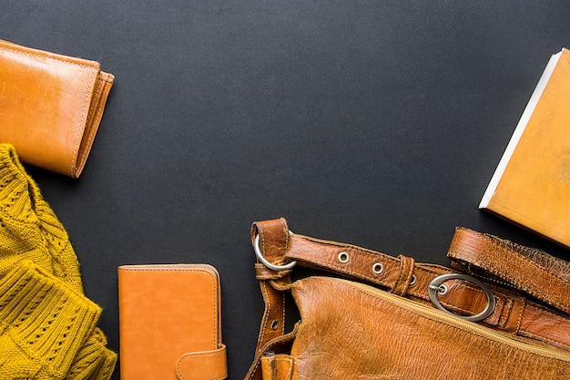 Elegante feminina elegante acessórios femininos bolsa de couro amarelo carteira de malha camisola notebook