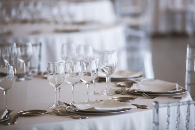 Elegante, jogo tabela, em, multa, restaurante