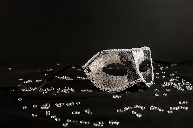 Elegante, máscara, de, veneziano, carnaval