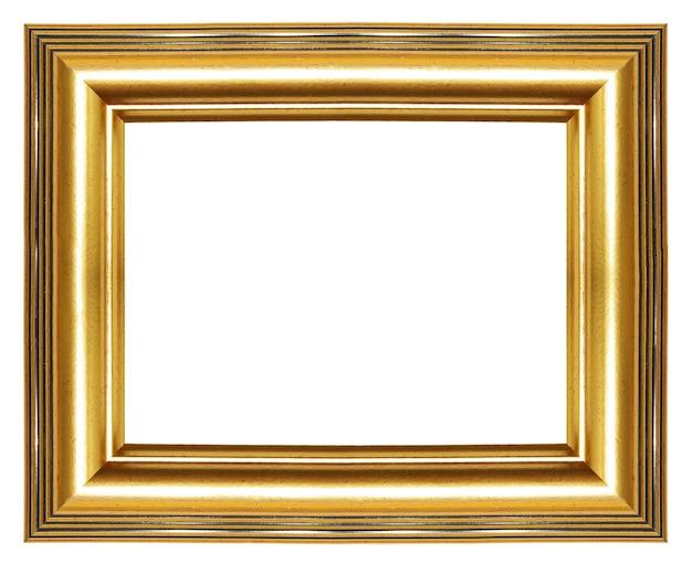 Elegante moldura dourada em branco isolada no fundo branco