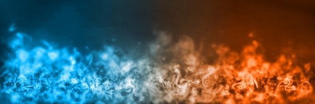 Elemento abstrato fogo e gelo