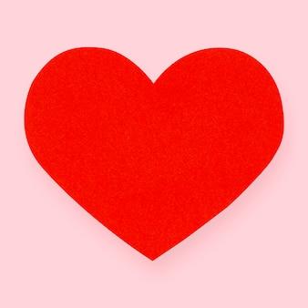 Elemento artesanal de papel coração vermelho