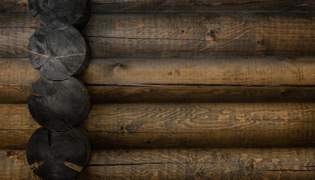 Elemento comum da parede da casa de madeira
