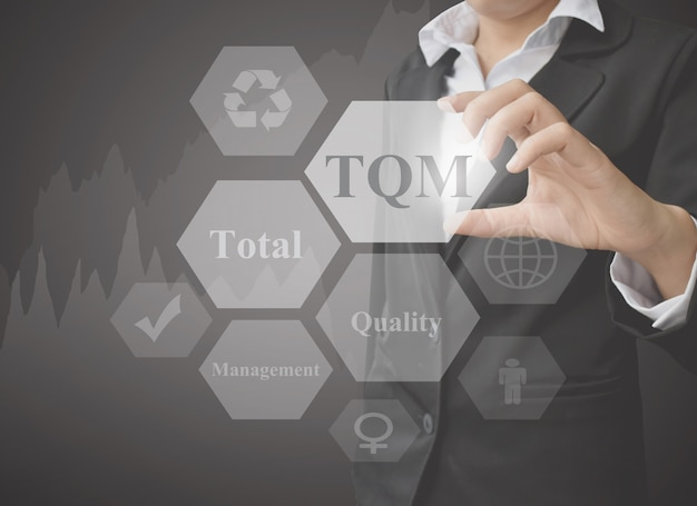 Elemento de apresentação empresária de gestão da qualidade total.