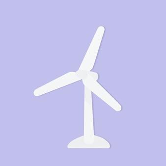 Elemento de artesanato de papel de ambiente de turbina eólica