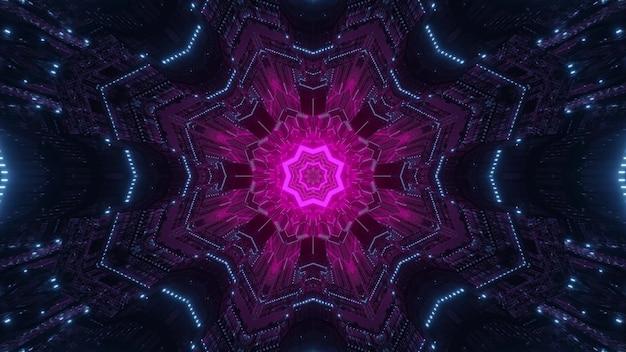Elemento de cor rosa sci fi como ilustração 3d