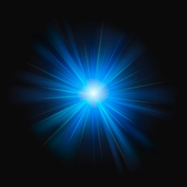 Elemento de design abstrato azul sunburst