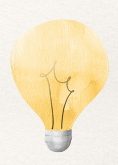 Elemento de design de arquivo aquarela lâmpada