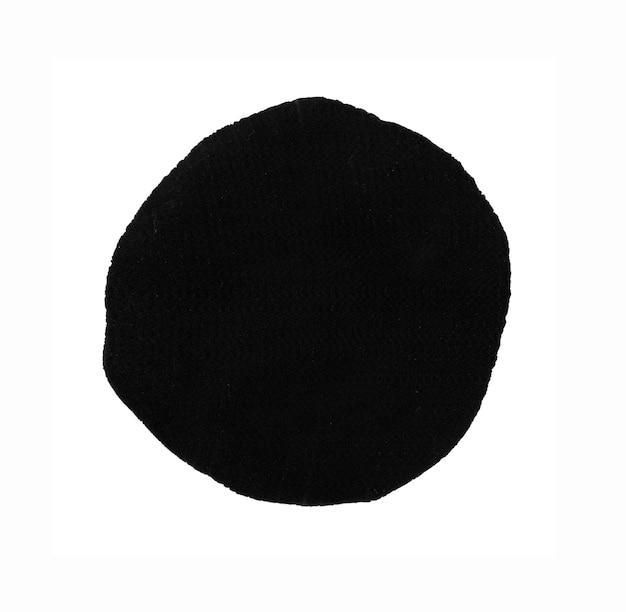 Elemento de design de círculo preto redondo pintado à mão com tinta blob