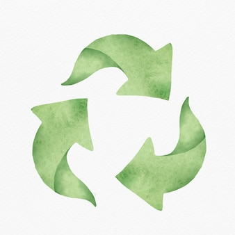 Elemento de design de símbolo de reciclagem verde