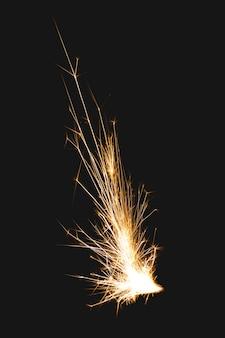 Elemento de foguete, imagem realista de chama de mina