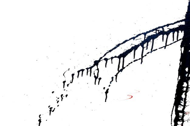 Elemento de grafite preto. resumo salpicos de tinta preta.
