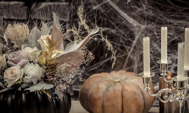 Elementos de decoração gótica de halloween