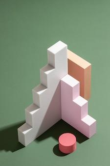 Elementos de design renderizados 3d
