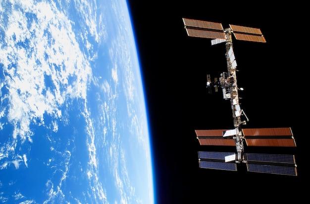Elementos de estação orbitais espaciais desta imagem fornecida pela ilustração da nasa d