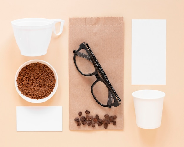 Elementos de marca da cafeteria