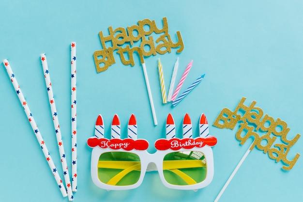Elementos de photocall de aniversário