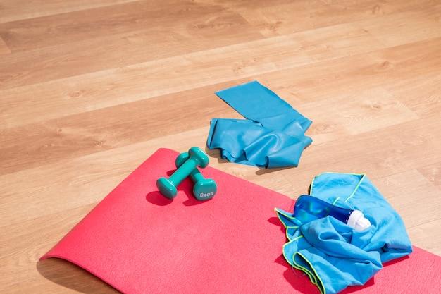 Elementos do esporte para fazer exercício