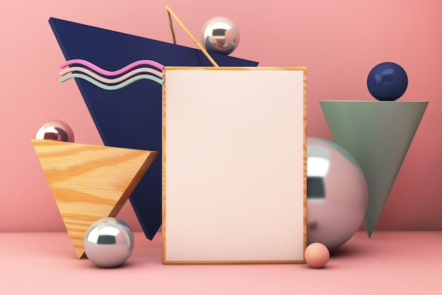 Elementos geométricos de maquete de cartaz