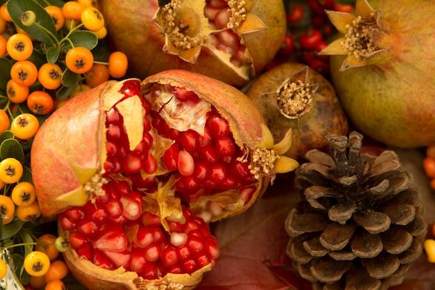 Elementos naturais de outono para decoração