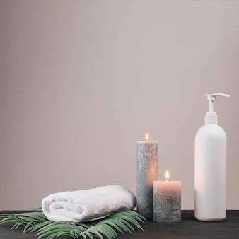 Elementos naturais para spa com velas