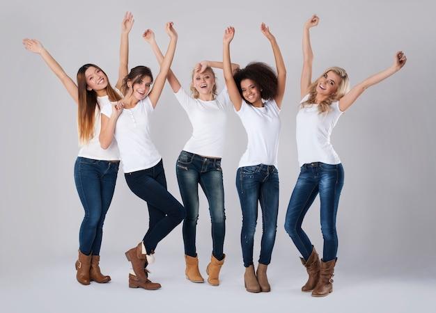 Eles estão felizes com sua feminilidade
