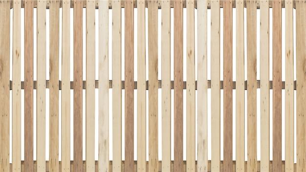 Elevação do padrão de fachada de cerca de madeira isolada
