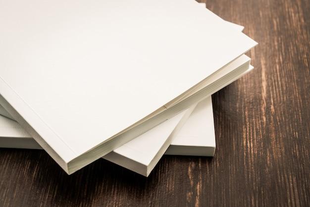 Em branco branco mock up livro