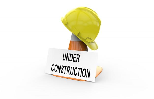 Em construção sinal
