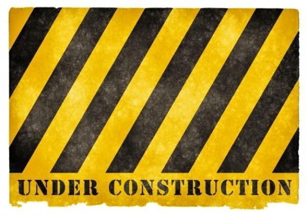 Em sinal grunge construção