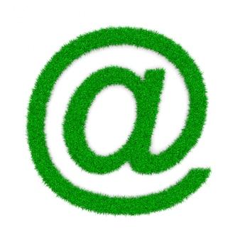 Email de grama em forma de símbolos