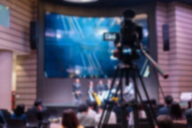 Embaçado da sala de reuniões com a câmera