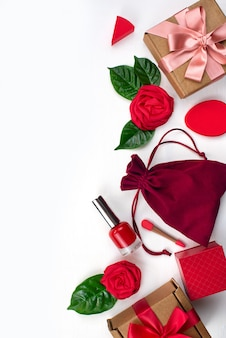 Embalagem caixa de presente acessórios femininos cosméticos