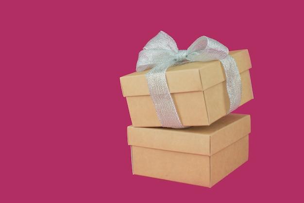 Embalagem da caixa de presente de época natalícia