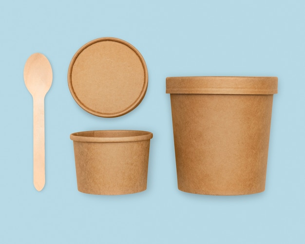 Embalagem de alimentos kraft ecologicamente correta