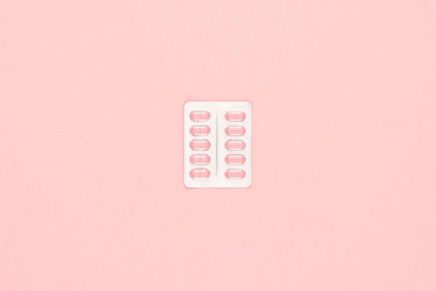 Embalagem de comprimidos de rosa