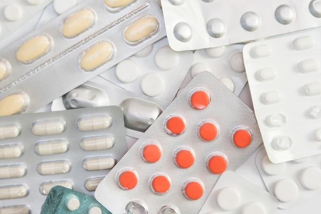 Embalagem de comprimidos e pílulas, prescrição de medicamentos para medicamentos de tratamento