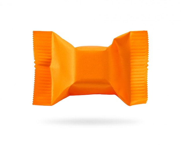 Embalagem de doces isolado no fundo branco.