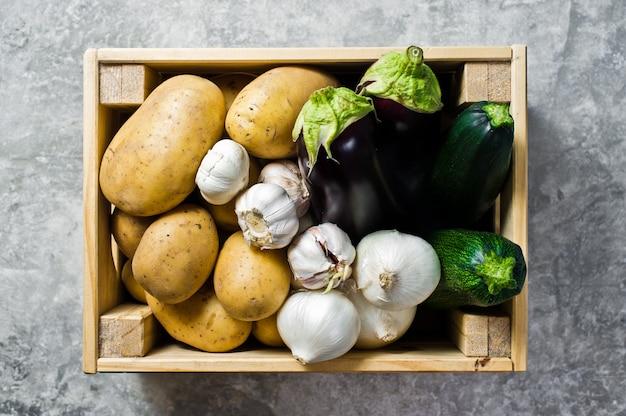 Embalagem de eco para legumes, livre de plástico.