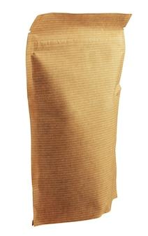 Embalagem ecológica, bolsa isolada em um fundo branco.