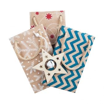 Embalagem presente de natal isolada