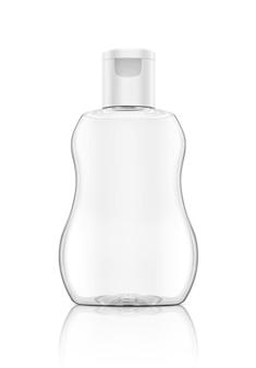 Embalagens em branco óleo de bebê limpar garrafa isolada