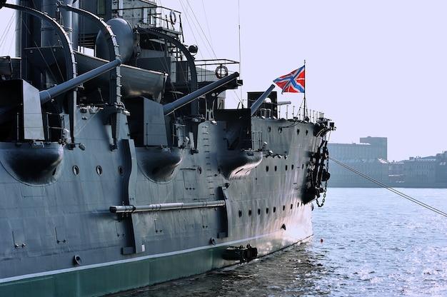 Embarcação de cruzeiro aurora, são petersburgo, rússia