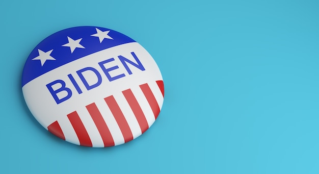 Emblemas do botão de votação biden