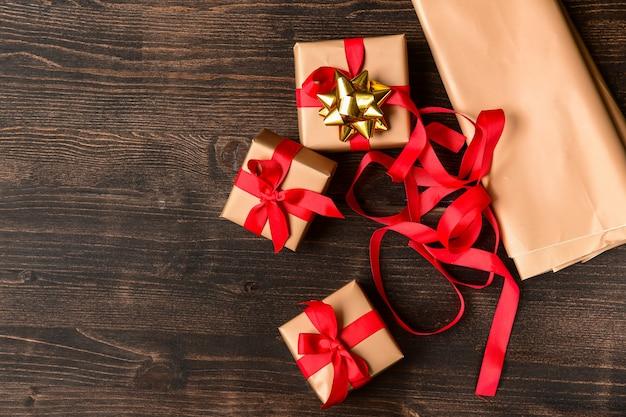 Embrulho de presente de natal