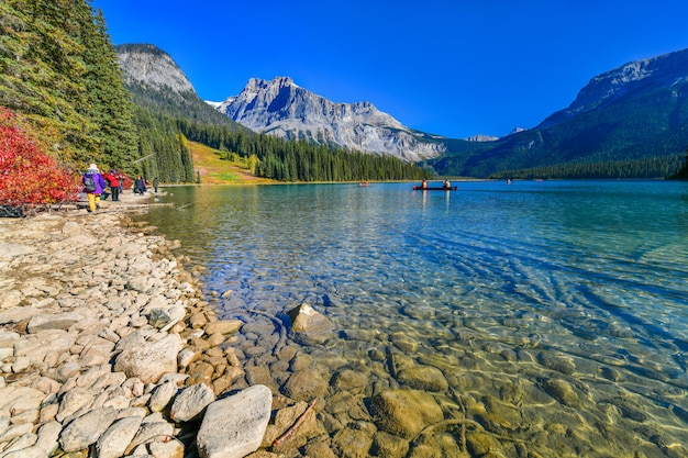 Emerald lake, parque nacional yoho no canadá